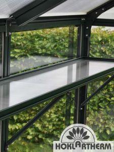 Hängebord 44 cm breit, Längen nach Maß, mit Einlegeplatten/ Pflanzschalen