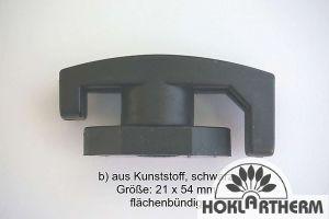 Türfeststeller / Vorreiber, flächenbündig 21 x 54 mm