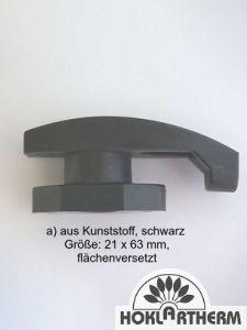 Türfeststeller / Vorreiber, flächenversetzt 21 x 63 mm