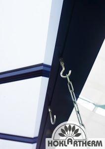 Rohr-Hakenkombination aus Edelstahl
