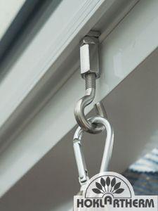 Ring-Hakenkombination aus Edelstahl
